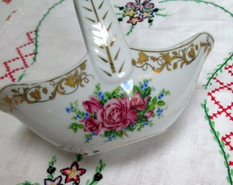 Child's China Basket for the Tea Table