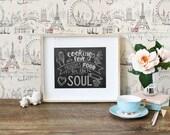 As Seen In Good Housekeeping Magazine - Kitchen Print - Chalkboard Art - Food Quote - Foodie Gift - Hand Lettering by Valerie McKeehan