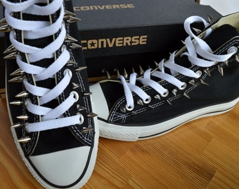 Adult, Custom Spiked Converse Goth-Punk-Metal - made to order, any size