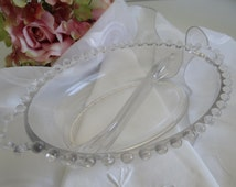 Imperial Candlewick Oval Divided Dish with Handles - Lovely Serving Dish - Lovely Table Decor - Serving Piece