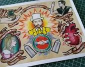 "Digital print of original watercolor painting ""Nightman - It's Always Sunny in Philadelphia"""