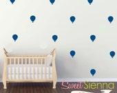Hot Air Balloon wall decals, Hot Air Balloon decal, Hot Air Balloon wall sticker,wall decals, wall stickers, vinyl wall decal stickers  x 40