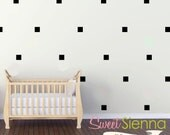 Square wall decals, Square decal, Square wall sticker, nursery wall decal, wall decals, wall stickers, vinyl wall decal stickers  x40