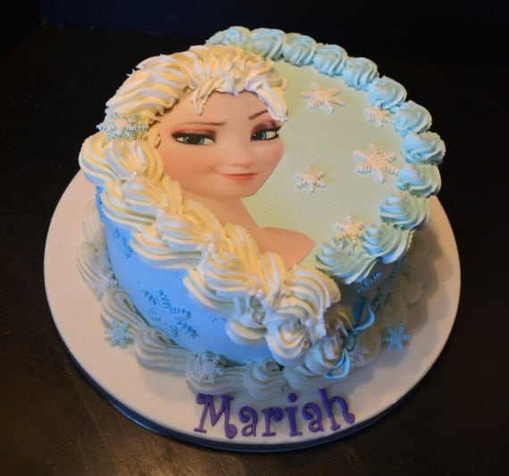 Frozen Cake Decoration Images : Elsa or Anna Frozen Cake Decorating Kit