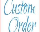 Custom Order Wood Small Add-On Name Board