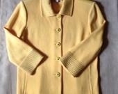 Yellow St. John Knit Cardigan Jacket EUC