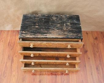 Vintage Handmade Wooden Tool Chest