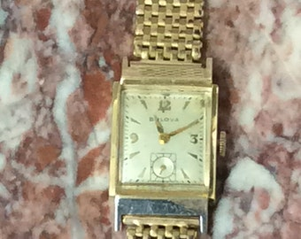 Bulova 21 jewel men's wrist watch 10k gold filled