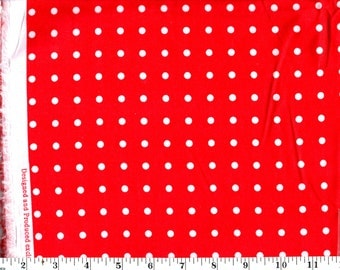 1 Yard 25 in, Medium White Dots on Red