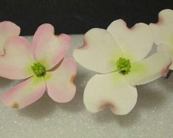 dogwood sugar flowers gum paste cake topper pink white bridal wedding