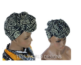 Tribal Dogon African head wraps for sale/ African Head wraps/ African hair accessory fabric/ African Head scarf/ HT55
