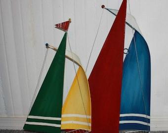 Vintaql Metal Sailboat Wall Hanging