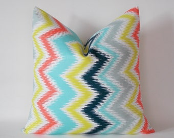 Decorative Pillow Cover, Zigzag Throw Pillow, Chevron Throw Pillow Cover 16,18,20,22,24,26,28,30 inch Chevron Accent Pillows