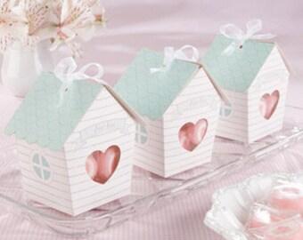 Wedding Favors Wedding Boxes Bridal Shower Favors Wedding Favors Wedding Guest Gifts Birdhouse Boxes  Guest Gifts Heart Box Favor Boxes