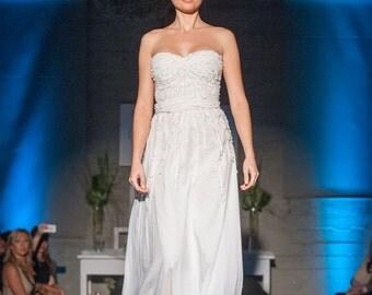 Sample Sale: Wedding Dress, Artistic Design, Organic Cotton