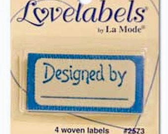 IRON ON Personalised Garment LABELS - 4 designs, for your handmade clothes and gifts - pack of 4 - Free Postage Worldwide!