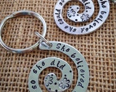 She Believed She Could So She Did aluminum swirl key ring