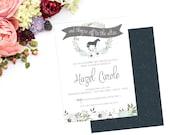 Derby Bridal Shower, Kentucky Derby, Horse Wedding Invitation, Derby Engagement Shower  // 5x7 //  PRINTABLE