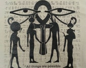 Egyptian  Book of the Dead Quote - All Sizes Various Colors