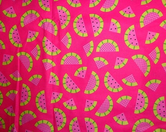 Pink Watermelon Fabric by the Half Yard