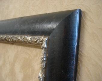 brown 11 x 14 art frame pleine air embossed pewter finish inside edge