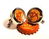 Fat Tire Cufflinks - Beer Cufflinks for Cyclist - Bike Cufflink for Traveler - Bike Cuff Link for Him - Team Groom Gifts - Boyfriend Gift