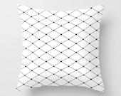 Diamond Black Throw Pillow - Geometric Pillow - Modern Decor - Throw Pillow - Urban Decor - by Beverly LeFevre