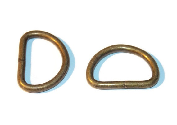 Bronze tone d rings 3 8 inch dee rings 10mm webbing for 3 inch rings for crafts
