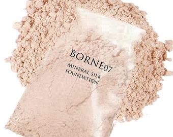 Mineral Makeup Foundation (20 Gram Refill) - Organic Silk Mineral Foundation - Fills (2) 20 Gram Jars