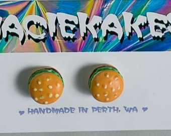 Cheeseburger Stud Earring