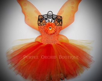 On FireTutu Dress - Fairy Set - Includes Wings