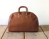 Trendy Vintage 1960s Brown Leather Bag