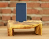 Wooden iPhone  6 Dock, Solid Acacia wood, iPhone stand, Wooden iPhone station, Charging Station, Iphone 6, Smartphone Holder, IPhone Gadget