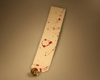 steampunk leather bookmark