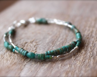Solace Bracelet/ turquoise hill tribe silver