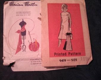 Very Rare Retro Marian Martin Shift Dress Size 18 1/2