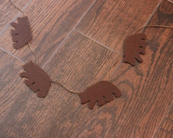 Woodland Bear Felt Garland