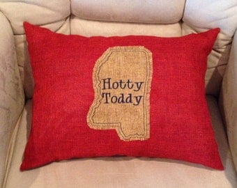 Ole Miss Hotty Toddy Pillow