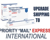 INTERNATIONAL SHIPPING Rush Order Extremely Urgent Shipping Upgrade For INTERNATIONAL Shipping from ReVintageLannie Ships Worldwide