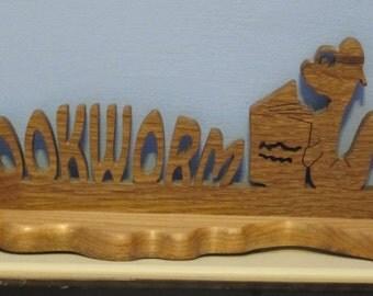 Bookworm Wood Sign