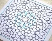 Islamic Geometric Art - Moroccan Pattern - Embroidery