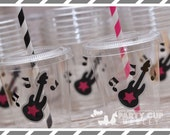 Rock Star Birthday Party-Kids Party Cups-Guitar Party Favors-Souvenir Cup