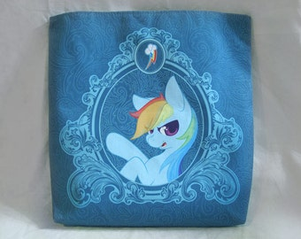 "18"" Canvas Tote Bag - Rainbow Dash"