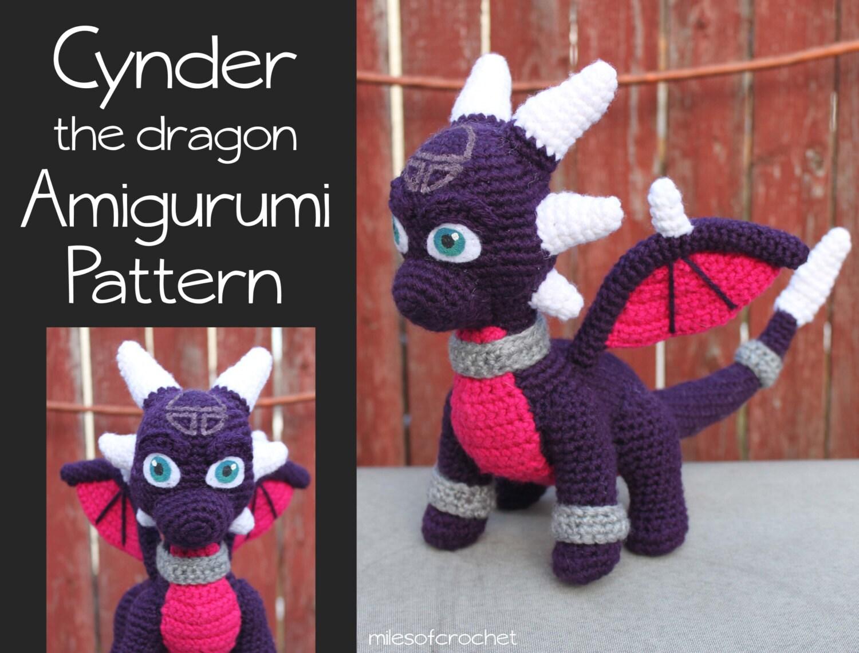 Crochet Pattern: Cynder the Dragon from Spyro Inspired