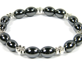 Hematite Bracelet - Handcrafted in the USA