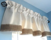 RESERVED lising  ( 2 Valances in size : 80 inches wide x 20 inches length )