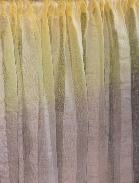 ... ombre striped sheer gauzy curtain washed shabby chic style curtain