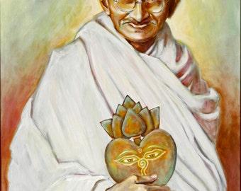 Mahatma Gandhi Sacred Heart Series 8x10 Print
