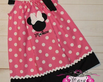 Personalized Minnie Mouse Pillowcase dress