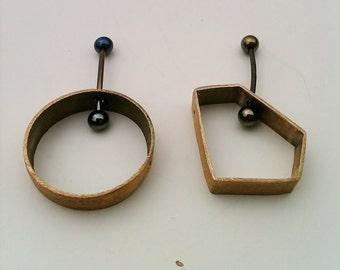 earrings bronze modular